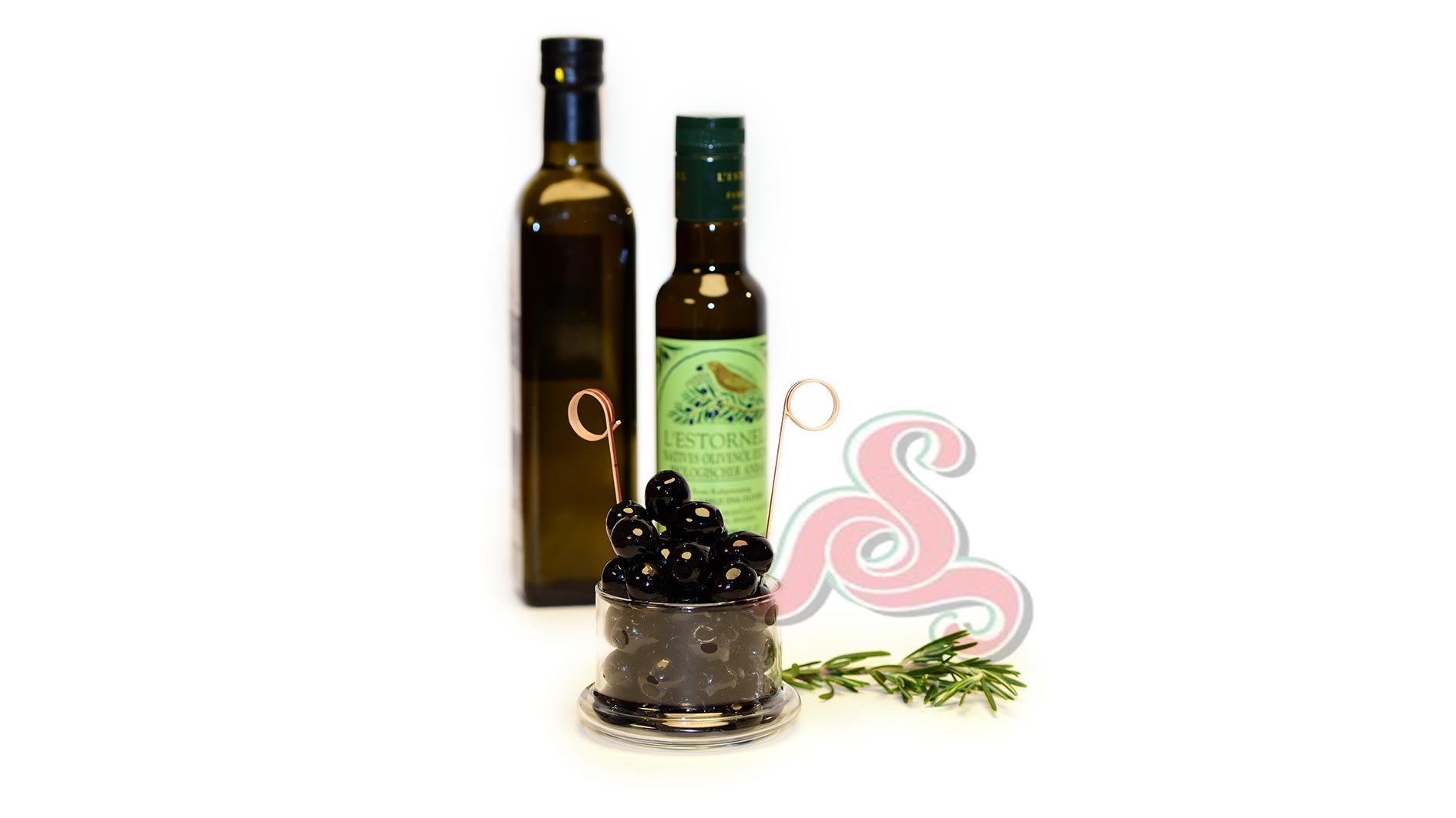 Spanische schwarze Oliven Ohne Kern