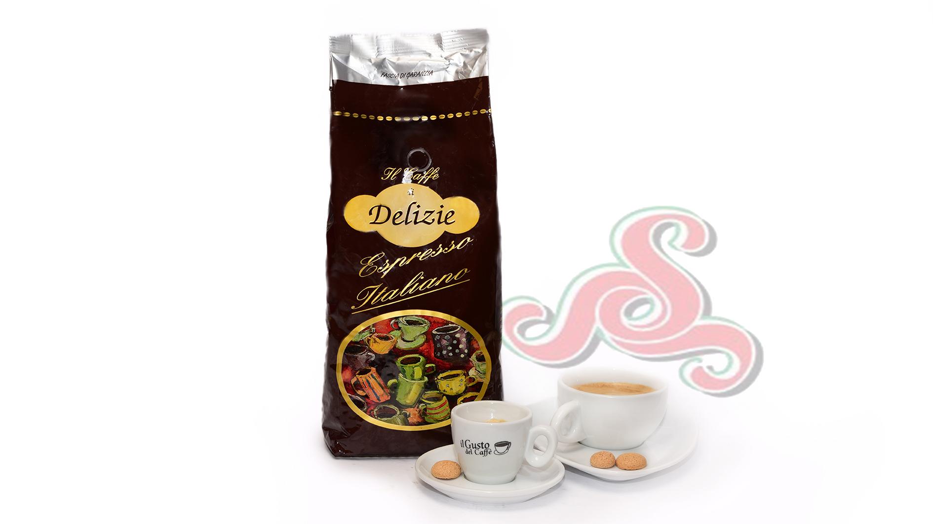 Kaffee Bohnen  Delizie 1 KG 80/20